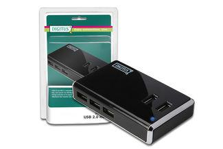 DIGITUS® USB 2.0 Hub, 10-Port, DA-70228