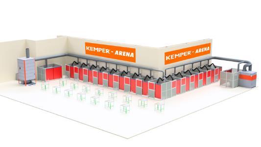 Mit effektivem Arbeitsschutz schweißen auf der Messe: Die KEMPER-Arena geht auf der SCHWEISSEN & SCHNEIDEN an den Start und bietet Schweißern die Möglichkeit, neue Schweißgeräte vor Ort zu testen