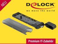 Premium und praktisch: Externes USB Type-C™ Gehäuse für M.2 SSDs - werkzeugfrei