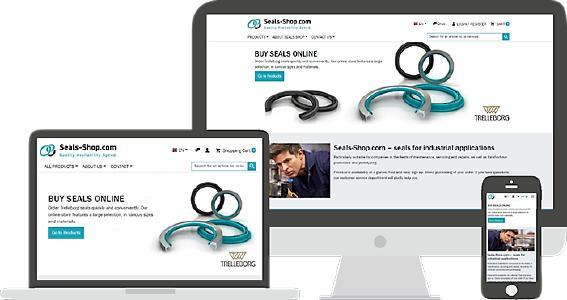 Seals-Shop de Trelleborg ahora también para smartphones y tablets