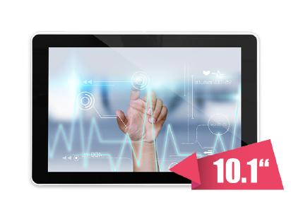 10.1-inch WXGA (16:10) display with medical certifications and PCAP touch