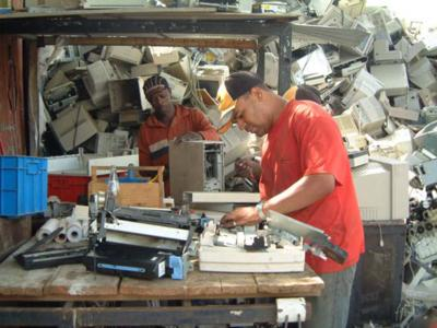 E-waste-Recycling in Südafrika