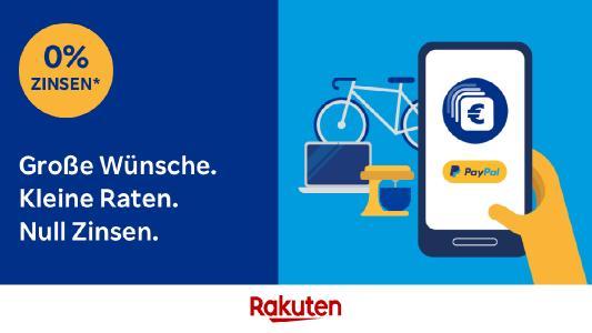 Rakuten bietet Kunden PayPal Ratenzahlung mit 0 Prozent Zinsen