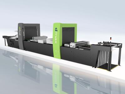 The Steinemann dmax finishing machine with the dfoil digital metallization module, Photo: Kurz