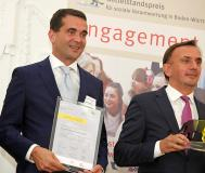 (v. l.) Alpensped-Geschäftsführer Massimo und Christian Faggin / Bild/Copyright: Diözesan-Caritasverband Rottenburg-Stuttgart