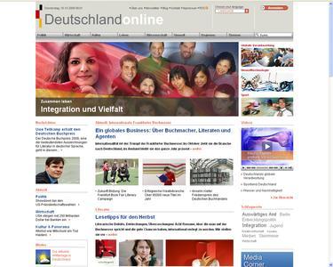 Neue Startseide von Deutschland Online