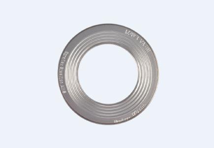 Egraflex Steelflon Waveline WLP® Dichtung mit Innen- und Außeneinfassung und möglicher Kennzeichnungen