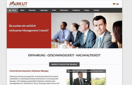 Markut Executive Search GmbH & Co. KG überzeugt mit neuer Internetpräsenz