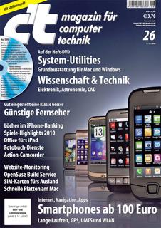Das Titelbild der aktuellen c't-Ausgabe 26/2010