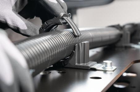 Optional inserts provide strain relief and prevent abrasion