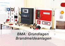 BMA Grundlagen Schulung Musteranlage Brandmeldeanlage mit Rauchmelder, Handfeuermelder, Sprachalarmzentral, Feuerwehrschlüsseldepot