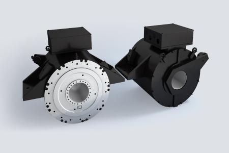 Baumüller features its high-torque motors DST2 specifically with wing mounts that make it much easier to integrate them into the ship design. The high-torque motors are certified by Lloyd's Register and meet the specific requirements for shipping