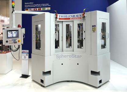 The new SpheroStar by Thielenhaus Microfinish makes it possible to machine spherical workpieces in short cycle times efficiently and with great precision.