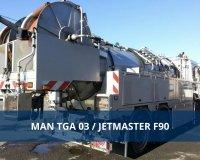 Kanalreiniger von MAN mit Jetmaster Aufbau jetzt günstig ersteigern