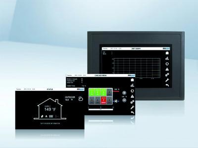 ebm-papst Heating Systems präsentiert den 900TS mit Touch Screen Display zur Überwachung des Betriebszustands und zur einfachen Konfiguration des Boilers.