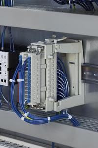 The new technology can be seen installed in a switch cabinet