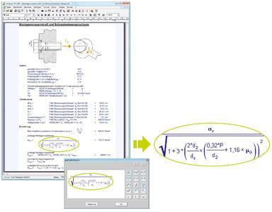 Automatische Berechnung von Formeln und Tabellen