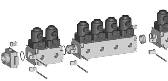 GEMÜ multi-port valve block made of plastics