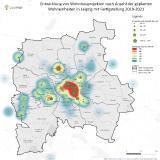 Entwicklung von Wohnbauprojekten nach Anzahl der geplanten Wohneinheiten in Leipzig mit Fertigstellung 2019-2021