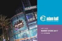 Adam Hall Group News auf der Winter NAMM 2017
