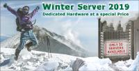 "Limited dedicated ""Winter Server 2019"" with 50 IP-addresses available"