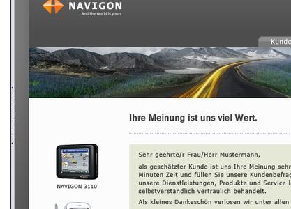 Schwarzer.de führt für Navigon eine Online-Befragung durch