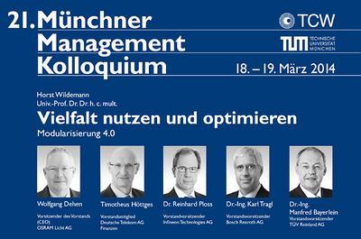 21. Münchner Management Kolloquium am 18./19. März 2014