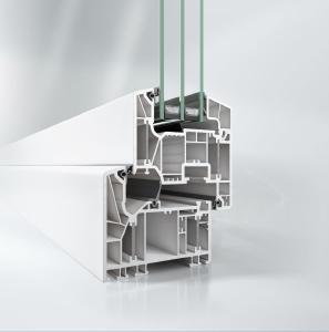 Stahlfreies Schüco LivIng Alu Inside Fenstersystem mit patentierter Aluminium-Verbundtechnologie für beste Wärmedämmeffizienz (Uf-Wert von 0,87 W/m²K). (c) Schüco Polymer Technologies KG