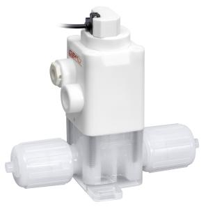 Pneumatically operated GEMÜ C50 iComLine diaphragm globe valve with GEMÜ C12A electrical position indicator