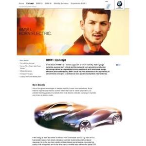 Webpage BMW i concept