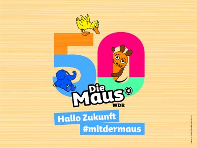 """""""Hallo Zukunft"""" ist das diesjährige Thema der bundesweiten """"Türen auf mit der Maus""""-Aktion, bei der die Hochschule Aalen und das explorhino mitmachen und ihre Türen öffnen / Grafikhinweis: © WDR"""