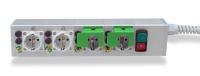 Medizinische Mehrfachsteckdose im Modulbauweise e-medic™ MEDX