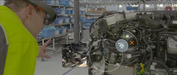 Renault Trucks setzt ab 2018 Mixed-Reality zur Qualitätssicherung bei der Motorenherstellung ein