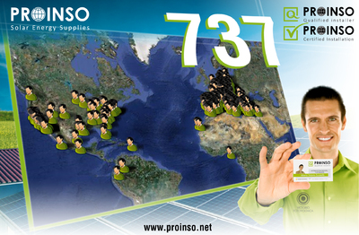 PROINSO'S extends it International Networks to 733 qualified installers worldwide