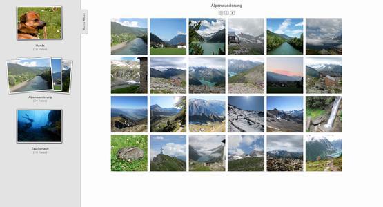 """Die neue Sharing-Funktion für die Cloud von STRATO: Auf HiDrive gespeicherte Bilder lassen sich in Share Gallery Alben zusammenstellen und per Link oder auf Facebook mit anderen teilen, Quelle : """"obs/STRATO AG"""""""
