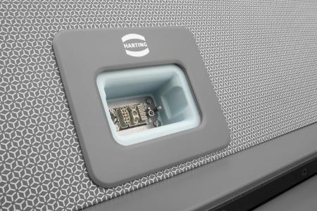 """HARTING supplies a specially designed interface that supplies the """"metroSNAP"""" (below) with power, data and signals"""