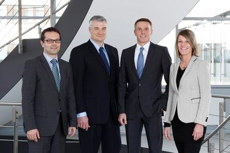 Martin Adelhardt, Joerg Walz, Christoph Beumelburg and Jasmin Loeffler (from left to right), Photo: Schaeffler