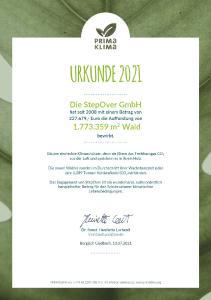 Pro verkauftes Unterschriftenpad 1,- EUR für den Klimaschutz - PRIMAKLIMA