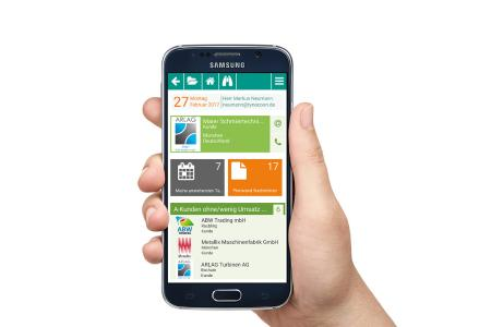 PiSA sales CRM-App für das Smartphone