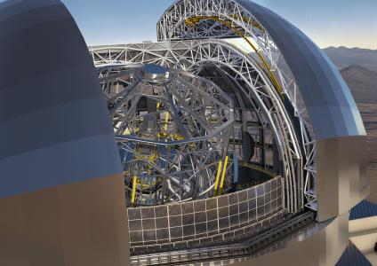 In cooperation with the Fraunhofer Institute for Applied Optics and Precision Engineering (IOF), PI (Physik Instrumente) is developing a new actuator concept for the European Extremely Large Telescope (E-ELT) (Image: ESO/L. Calçada/ACe Consortium)