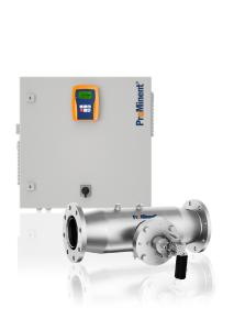 The UV system Dulcodes MP removes combined chlorine from swimming pool water without the use of chemicals. It is designed for a maximum flow of up to 569 m3/h with minimum energy consumption.