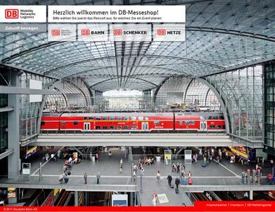 Individuell erstellter Online-Messeshop vereinfacht künftig Management der Veranstaltungstechnik und Veranstaltungsmaterialien für Geschäftsfelder der Deutschen Bahn.