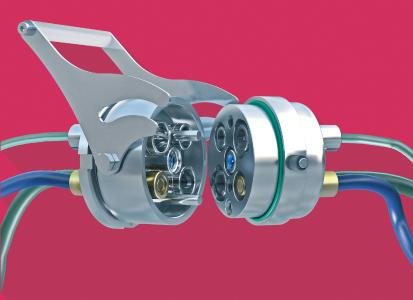 The practical MULTILINE locking lever enables superfast connection and disconnection within seconds