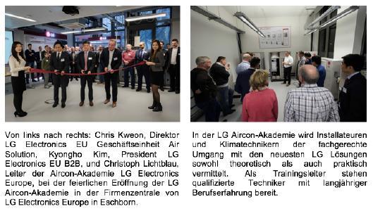 LG eröffnet moderne Aircon-Akademie in Eschborn