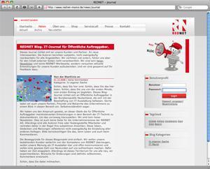 Screenshot des neuen REDNET Journals