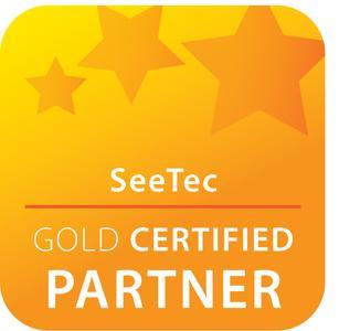 "Logo ""SeeTec Gold Certified Partner"""