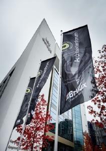 Architekturqualität im Kontext nachhaltigen Planens und Bauens: Das 20. Brillux Architektenforum in Frankfurt am 7.11.2016 fand im Kap Europa statt – ein passender Veranstaltungsort, denn das Kap Europa setzt in puncto Nachhaltigkeit Maßstäbe und ist das weltweit erste Kongresshaus mit DGNB-Zertifikat in Platin / Foto: Brillux