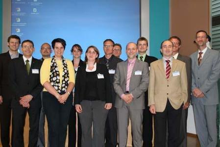 Referenten Hohenstein Innovationsbörse: Sektion2 - 11.6.2010 (v.l.) G. Hohn, M. Walz, Dr. T. Hammer, C. Bernet, J. Gündel, Dr. A. Gerhardts, C. Breckenfelder, M. Harnisch, Dr. G. v. Wagner, Dr. A. Schmidt, F. Girmond, Prof. Höfer, M. Rupp