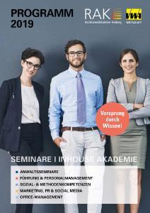 Cover Seminarprogramm RAK + VWA 2019