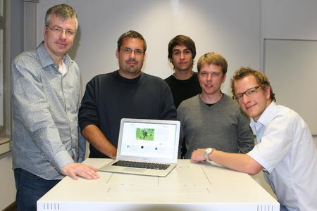 (v.l.) Dr. Jörg Wurzer, Prof. Dr. Bela Mutschler, Bernd Michelberger, Marco Kollöffel und Markus Hipp
